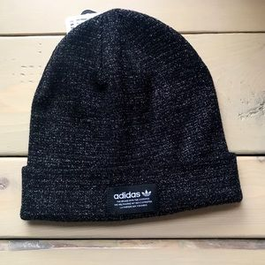 Black Adidas Beanie with Sparkle Detail Winter Hat